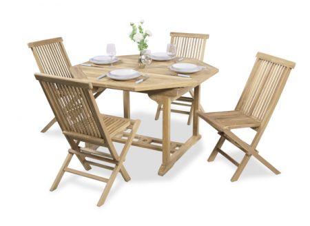 Salon De Jardin 4 Places Teck A Pembroke Table Extensible 120 180cm 559 99
