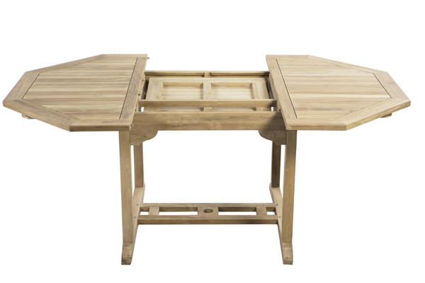 Salon de Jardin 6 Places Teck A Pembroke - Table Extensible 120 ...