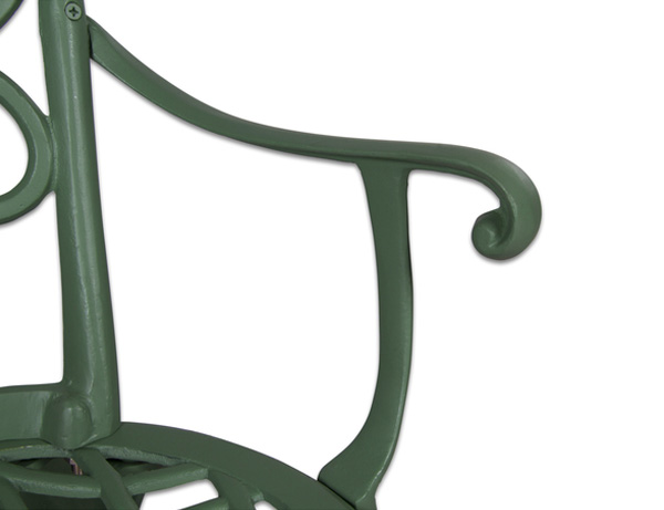 salon de jardin circulaire 6 places alium chenonceau en fonte d 39 aluminium vert for t 779 99. Black Bedroom Furniture Sets. Home Design Ideas