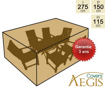 Housse Aegis - Salon Rect. 6 Places Deluxe - (150x275x115cm)