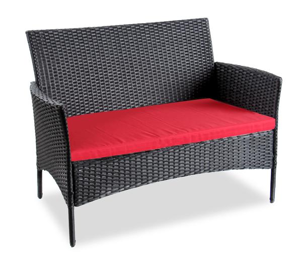 salon de jardin en r sine tress e noire 4 pers arboro langtry 314 99. Black Bedroom Furniture Sets. Home Design Ideas