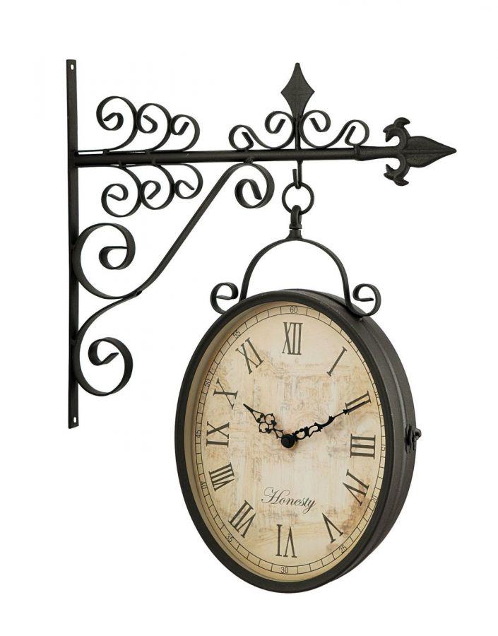 horloge de gare clarence double face 44 cm 45 99. Black Bedroom Furniture Sets. Home Design Ideas