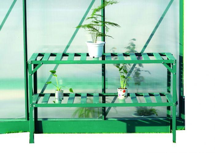 Étagère pour serre de jardin en aluminium à 2 niveaux 99,99 €