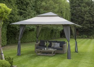 Gazebo XL Pergola Pop Up Gris de  4x4 m
