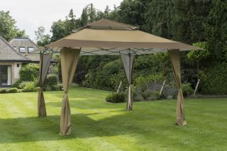 Gazebo XL Pergola Pop Up en Taupe de 4x4 m