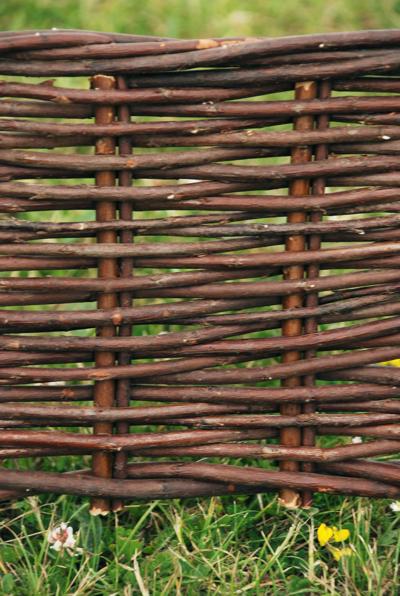 Bordure de Jardin en Osier Tressé Naturel (H 0,2m x L 100m ...
