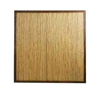 Panneau ext rieur en bambou avec cadre papillon l180cm x h180cm 109 99 - Comment se debarrasser des bambous ...