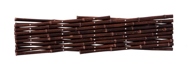 brise vue treillis extensible en bambou noir pour cl tures x par papillon 39 99. Black Bedroom Furniture Sets. Home Design Ideas