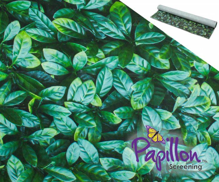 Brise-Vue de Jardin Rouleau Décoratif Feuilles 1 x 5m - par Papillon ...
