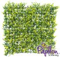 Haie Artificielle Carreau de Feuilles de Buis Clair 50x50cm - par Papillon ™ Lot de 4 – 1m²