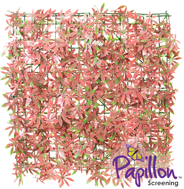 Haie Artificielle Carreau Erable Rouge 50x50cm - par Papillon ™ Lot de 16 – 4m²