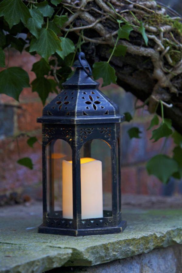 lanterne marocaine avec bougie led 24 99. Black Bedroom Furniture Sets. Home Design Ideas