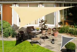Voile d'Ombrage Sable du Désert Triangle Rectangle 4,2m - Imperméable - 160g/m2 - Kookaburra®