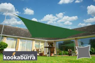 Voile d'Ombrage Vert Rectangle 3x2m - Imperméable - 160g/m2 - Kookaburra®