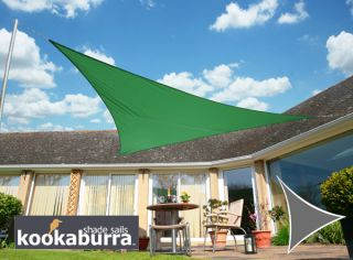 Voile d'Ombrage Vert Triangle Rectangle 4,2m - Imperméable - 160g/m2 - Kookaburra®