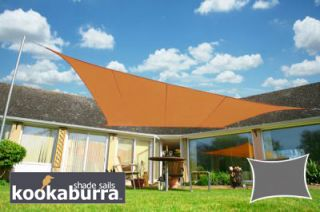 Voile d'Ombrage Terracotta Rectangle 5x4m - Imperméable - 160g/m2 - Kookaburra®