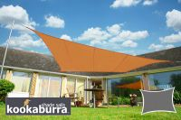 Voile d'Ombrage Terracotta Rectangle 5x4m - Imperméable - 160g/m2 - Kookaburra