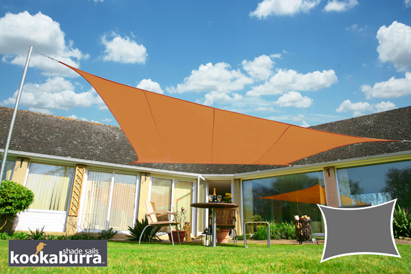 Voile d'Ombrage Terracotta Rectangle 4x3m - Imperméable - 160g/m2 - Kookaburra