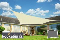 Voile d'Ombrage Ivoire Rectangle 5x4m - Imperméable - 160g/m2 - Kookaburra