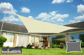 Voile d'Ombrage Ivoire Rectangle 4x3m - Imperméable - 160g/m2 - Kookaburra®