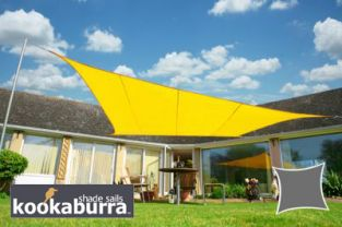 Voile d'Ombrage Jaune Rectangle 5x4m - Imperméable - 160g/m2 - Kookaburra®