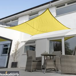 Voile d'Ombrage Jaune Rectangle 4x3m - Imperméable - 160g/m2 - Kookaburra®