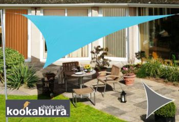 Voile d'Ombrage Azur Triangle Rectangle 4,2m - Imperméable - 160g/m2 - Kookaburra