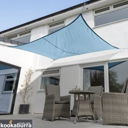 Voile d'Ombrage Azur Rectangle 4x3m - Imperméable - 160g/m2 - Kookaburra®