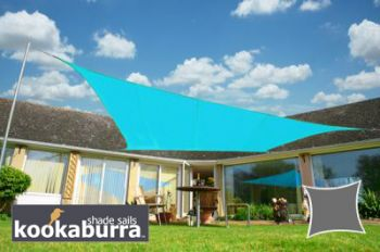 Voile d'Ombrage Azur Rectangle 5x4m - Imperméable - 160g/m2 - Kookaburra®