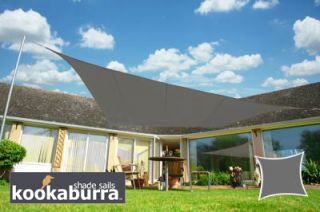 Voile d'Ombrage Charbon Rectangle 3x2m - Imperméable - 160g/m2 - Kookaburra®