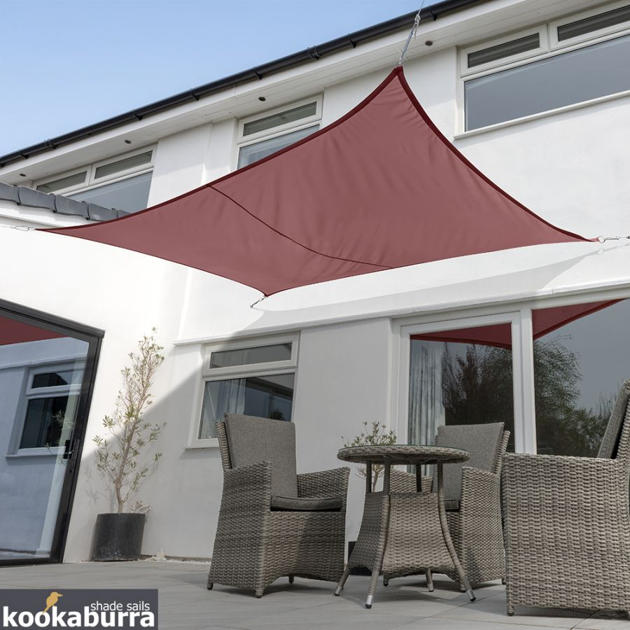 Voile d'Ombrage Marsala Rectangle 4x3m - Imperméable - 160g/m2 - Kookaburra®