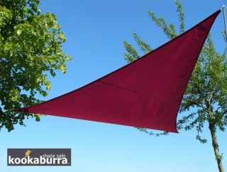 Voile d'Ombrage Bordeaux Triangle Rectangle 4,2m - Imperméable - 160g/m2 - Kookaburra®