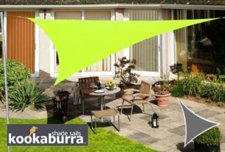Voile d'Ombrage Vert Citron Triangle Rectangle 4,2m - Imperméable - 160g/m2 - Kookaburra®