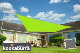 Voile d'Ombrage Vert Citron Rectangle 3x2m - Imperméable - 160g/m2 - Kookaburra®