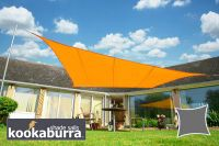 Voile d'Ombrage Orange Carré 5,4m - Imperméable - 160g/m2 - Kookaburra
