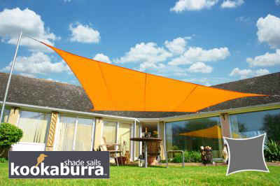Voile d'Ombrage Orange Rectangle 4x3m - Imperméable - 160g/m2 - Kookaburra®