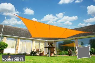 Voile d'Ombrage Orange Carré 3,6m - Imperméable - 160g/m2 - Kookaburra®
