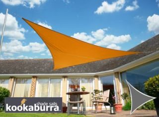 Voile d'Ombrage Orange Triangle 3,6m - Imperméable - 160g/m2 - Kookaburra®