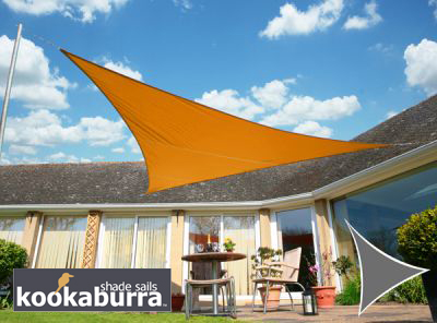 Voile d'Ombrage Orange Triangle 3,6m - Imperméable - 160g/m2 - Kookaburra