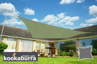 Voile d'Ombrage Vert Olive Rectangle 3x2m - Imperméable - 160g/m2 - Kookaburra®