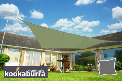 Voile d'Ombrage Vert Olive Rectangle 4x3m - Imperméable - 160g/m2 - Kookaburra®