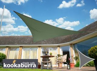 Voile d'Ombrage Vert Olive Triangle 3,6m - Imperméable - 160g/m2 - Kookaburra®