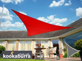 Voile d'Ombrage Rouge Triangle Rectangle 4,2m - Imperméable - 160g/m2 - Kookaburra