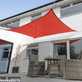 Voile d'Ombrage Rouge Rectangle 4x3m - Imperméable - 160g/m2 - Kookaburra®
