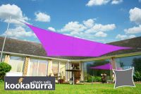 Voile d'Ombrage Violet Rectangle 5x4m - Imperméable - 160g/m2 - Kookaburra