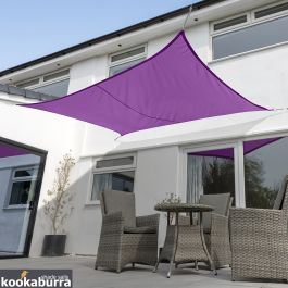 Voile d'Ombrage Violet Rectangle 4x3m - Imperméable - 160g/m2 - Kookaburra®