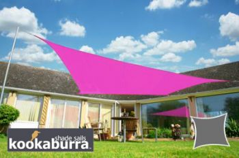 Voile d'Ombrage Rose Rectangle 3x2m - Imperméable - 160g/m2 - Kookaburra