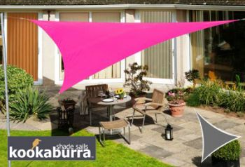 Voile d'Ombrage Rose Triangle 3m - Imperméable - 160g/m2 - Kookaburra