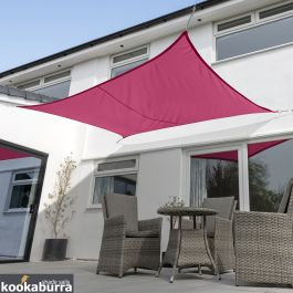 Voile d'Ombrage Rose Rectangle 4x3m - Imperméable - 160g/m2 - Kookaburra®