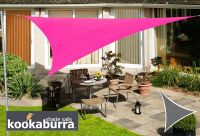 Voile d'Ombrage Rose Triangle 3,6m - Imperméable - 160g/m2 - Kookaburra